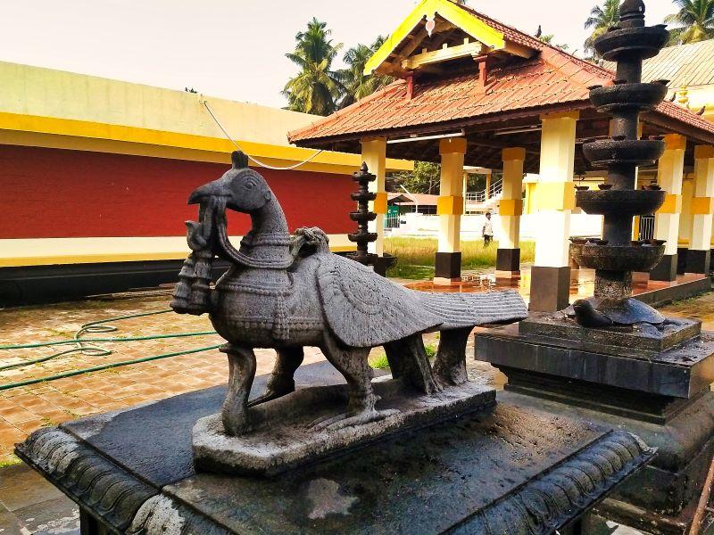 Stone Peacock; Subramanya Shrine; Sreekanteswara Temple; Kozhikode; Kerala; India; uasatish;