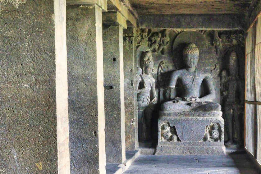 Ellora Cave 12; Ellora Caves; Maharashtra; lion throne; uasatish;