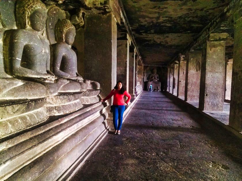 Ellora Caves; Ellora Cave 12; Maharashra; Buddha culpturs; uasatish;