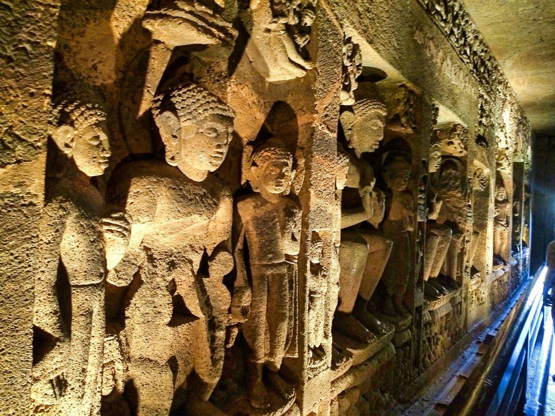Ajanta Cave 24; Ajanta Caves; Maharashtra; rock sculptures; uasatish;
