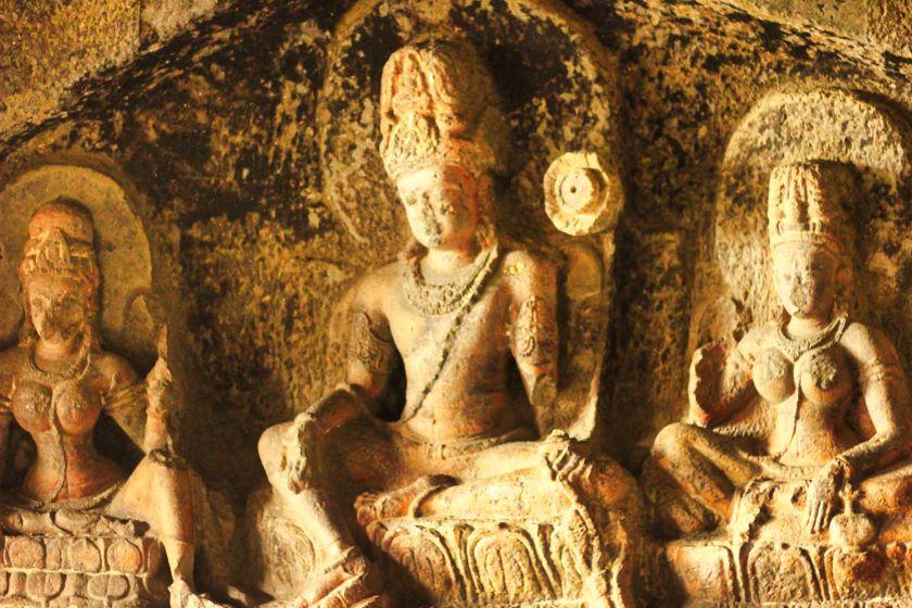 Ellora Caves; Ellora Cave 12; Maharashtra; rock sculpture; uasatish;