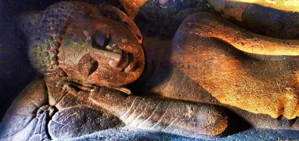 Sleeping Buddha; Ajanta Cave 24; Ajanta Caves; Maharashtra; rock sculpture; uasatish;