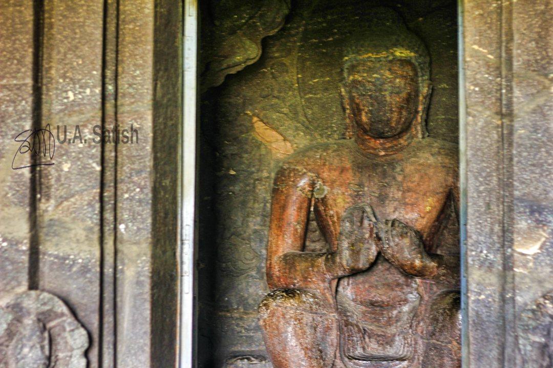 Buddha Idol; Aurangabad Cave No 7; Aurangabad Caves; Auangabad; Maharashtra; uasatish;