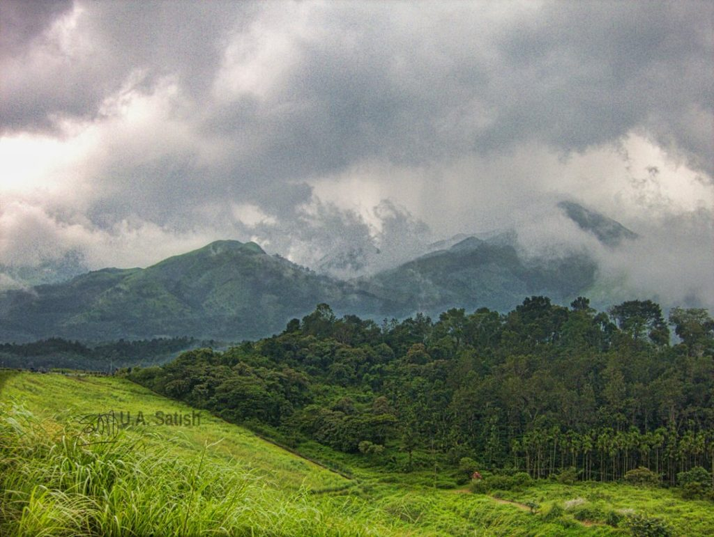 Cloud Covered Wayanad; Mountains; Kerala God's Own Country;mountains; clouds; uasatish;