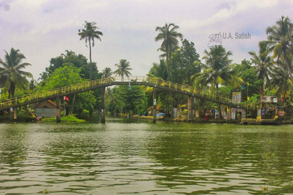 Kuttanad Canal; Kerala; bridge; backwaters; uasatish;
