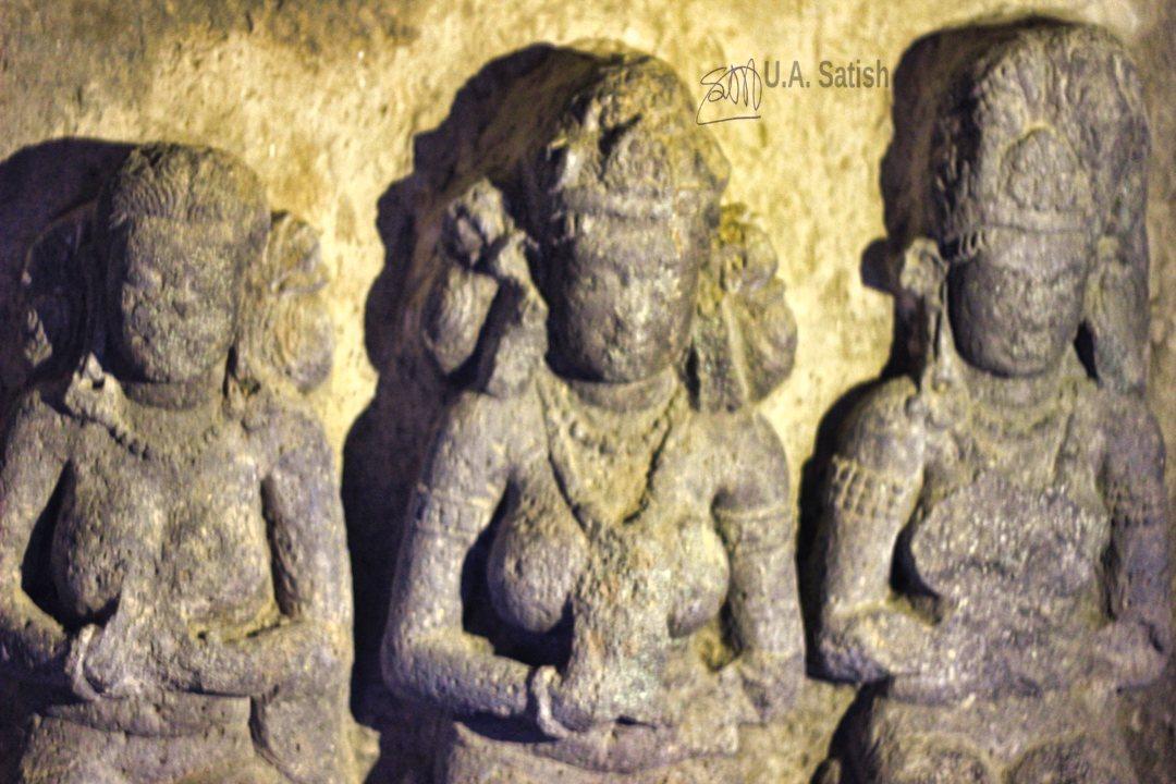 Tara Figure; Aurangabad Caves; Aurangabad; Maharashtra; uasatish; rock sculpture;