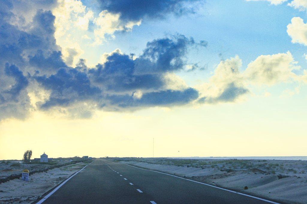 Road to Dhanushkodi; Tamil Nadu' road; uasatish; Rameswaram;