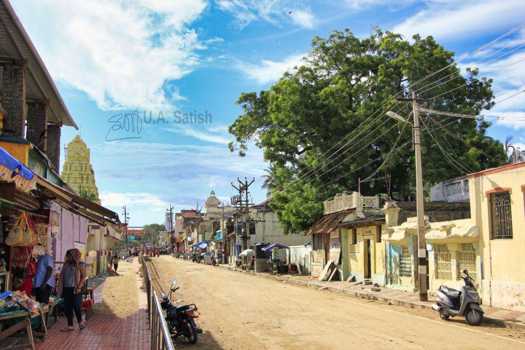 Car Street; Rameswaram; uasatish;