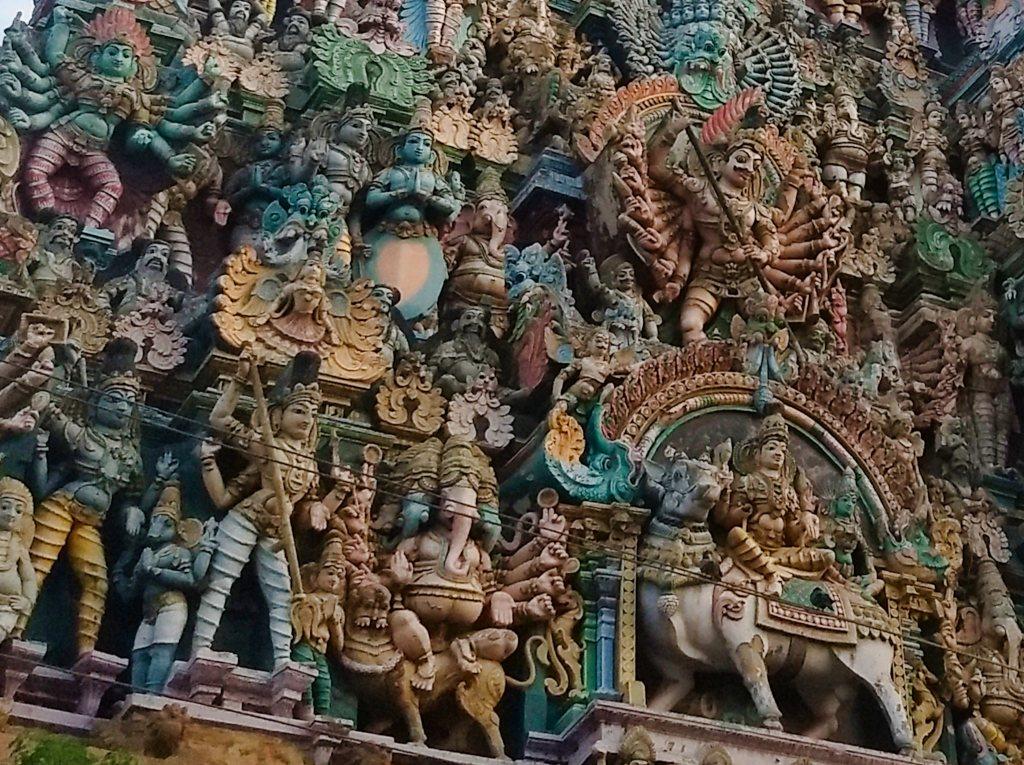 Sculptures; Dravidian architecture; Tamil Nadu; uasatish;