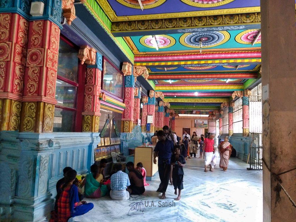 Pazhamudhircholai Murugan Temple; Tamil Nadu; India; uasatish; corridor;